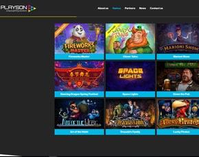 Jeux en ligne du logiciel Playson