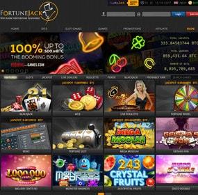 FortuneJack, casino en ligne #1 Bitcoin