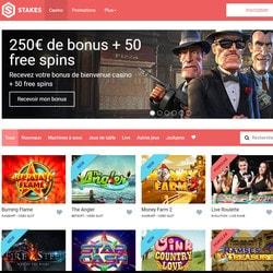 Stakes intègre Casino En Ligne pour ses jeux en live et bonus sans dépôt
