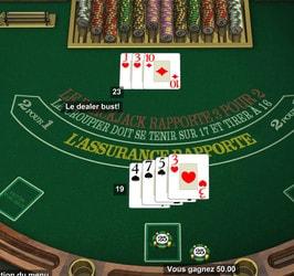 Tables de blackjack gratuit sur les casinos en ligne en RNG