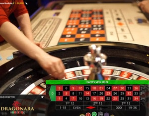 Dragonara Roulette en direct du Dragonara Casino de Malte