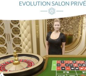 Roulette en ligne du Evolution Salon Privé pour VIP