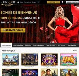 Unique Casino : jouez dans une belle gamme de jeux online