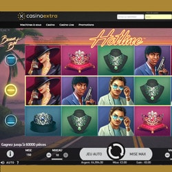 Machine à sous Hotline de NetEnt disponible sur Casino Extra