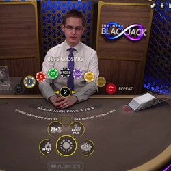 Infinite Blackjack dispo sur Lucky31