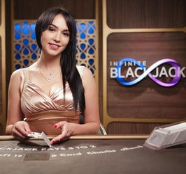 Live Infinite Blackjack, jeu sans limite de places