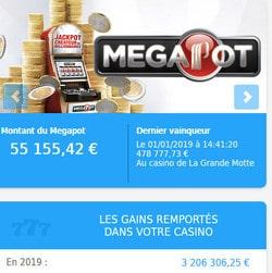 Le Megapot est tombé au casino Partouche de la Grande-Motte