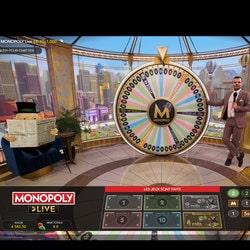 Mister Monopoly en 3D sur le jeu en live d'Evolution Gaming