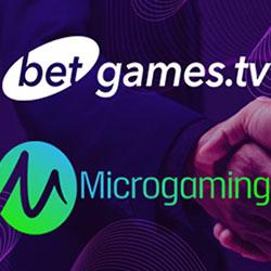 Partenariat entre BetGames.TV et Microgaming