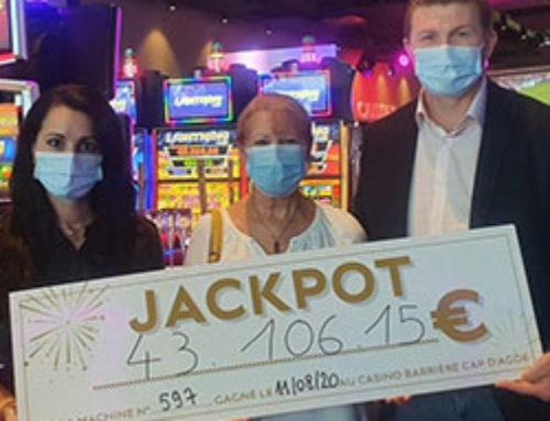 Une joueuse remporte un jackpot au Casino du Cap d'Agde
