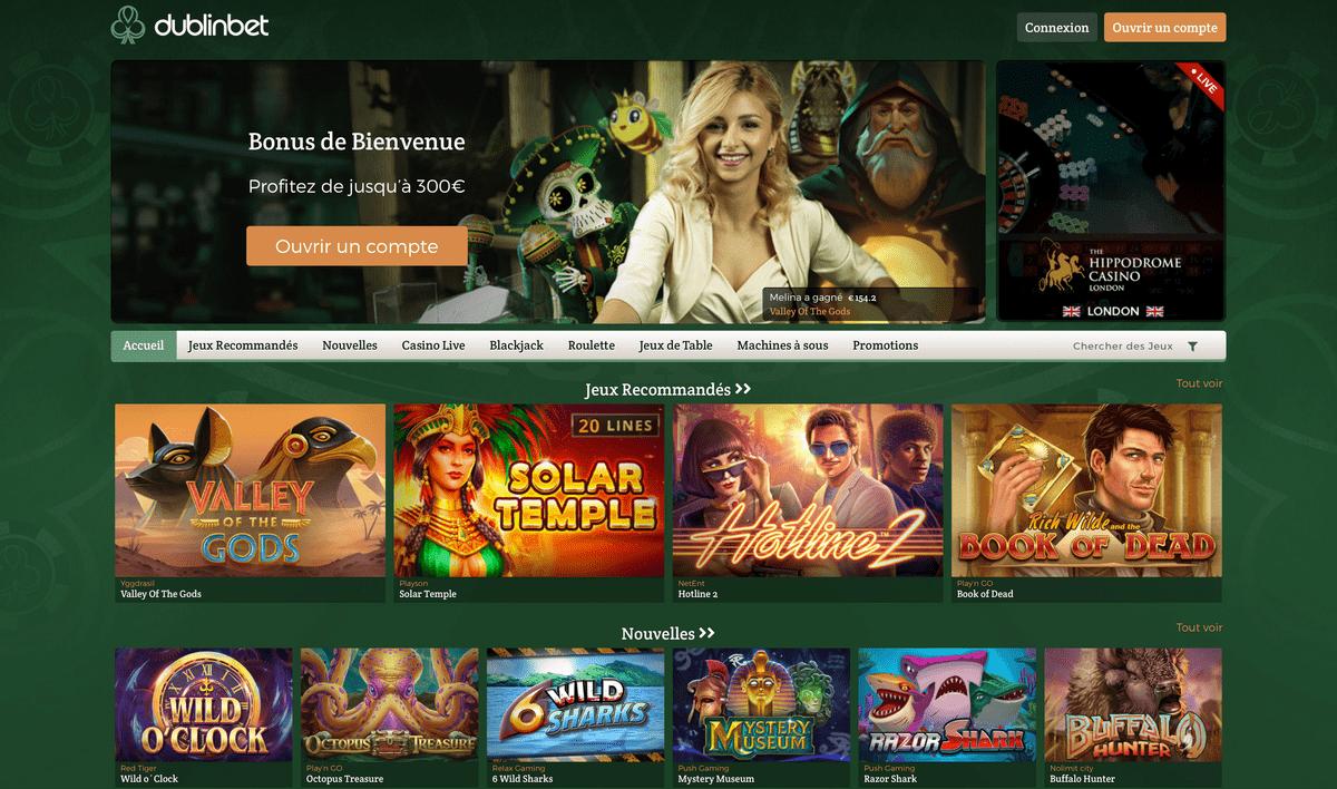 Casino en ligne Dublinbet1