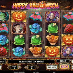 Machine a sous Happy Halloween de Play'n Go